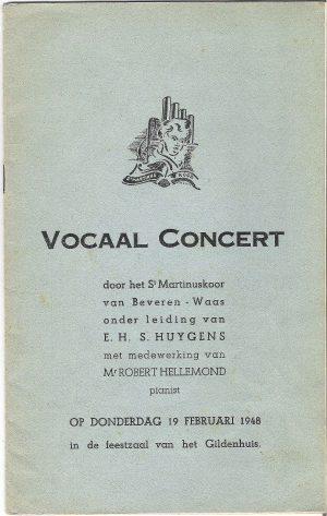 Vocaal concert 1948